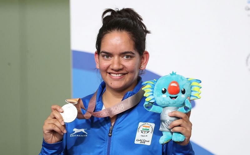 Anjum Moudgil won the silver medal at the 2018 Commonwealth Games in Gold Coast