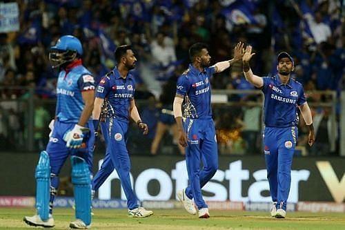 Delhi Capitals vs Mumbai Indians. Pic: IPLT20.COM