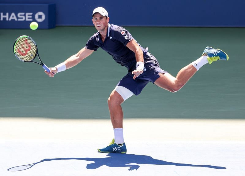 Vasek Pospisil, seen here at the 2020 US Open, has a 1-1 record against Andrey Rublev