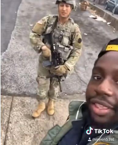 TikToker meen31st was recently seen talking to soldiers using COD slang