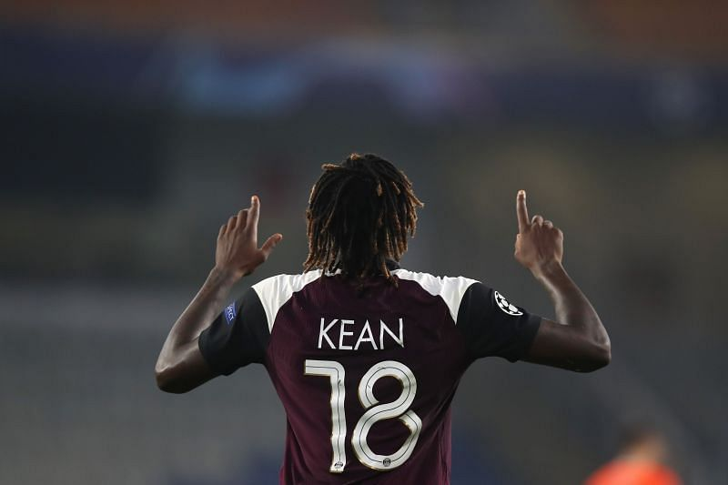 Moise Kean has scored four goals in four games for PSG this season