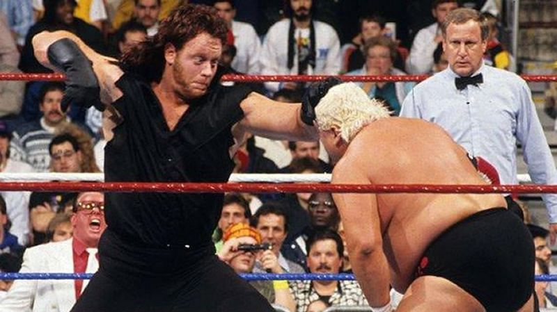 WWE Survivor Series 1990: The Undertaker (left) and Dusty Rhodes (right)