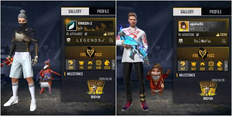 Vincenzo vs Ajjubhai: Who has better stats in Free Fire?