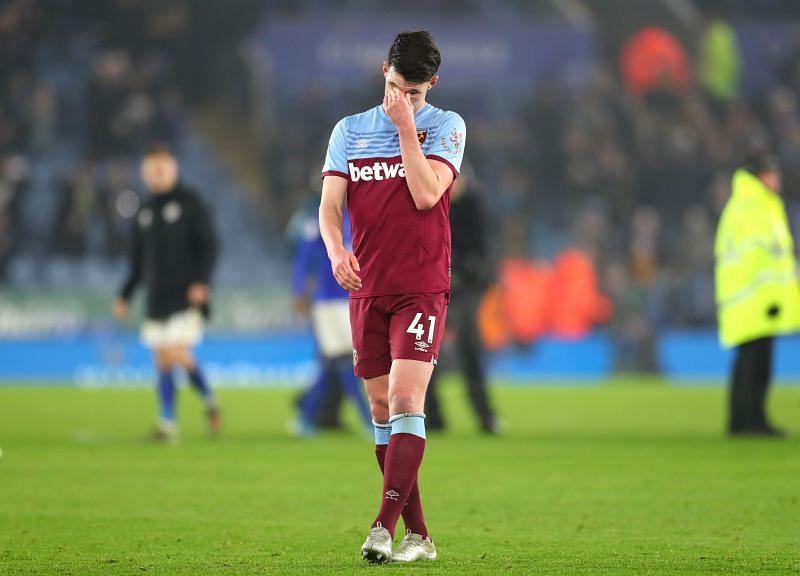West Ham midfielder Declan Rice