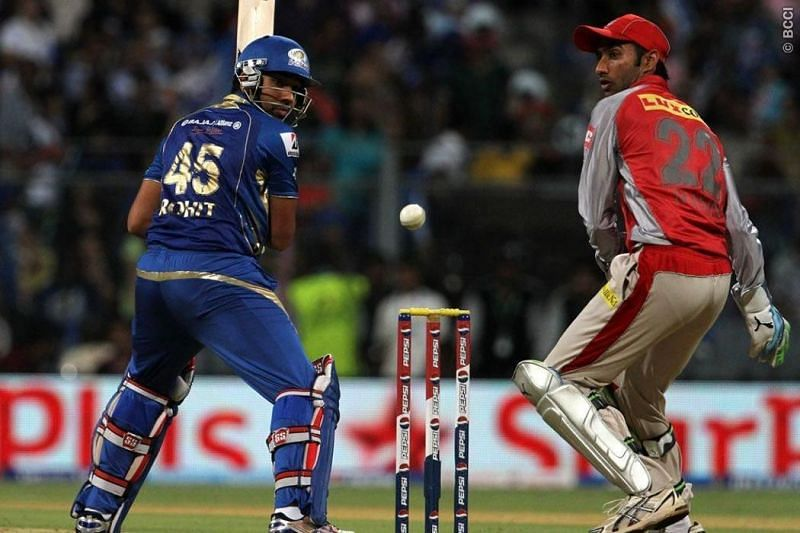 Rohit Sharma en route his unbeaten 79 off 39 balls against KXIP in IPL 2013 (Image Credits: IPLT20.com)