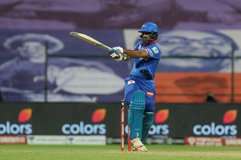 Shikhar Dhawan scored an unbeaten 69 runs for the Delhi Capitals against MI [P/C: iplt20.com]