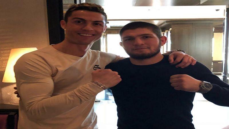 Cristiano Ronaldo and Khabib Nurmagomedov (image courtesy-youtube.com)