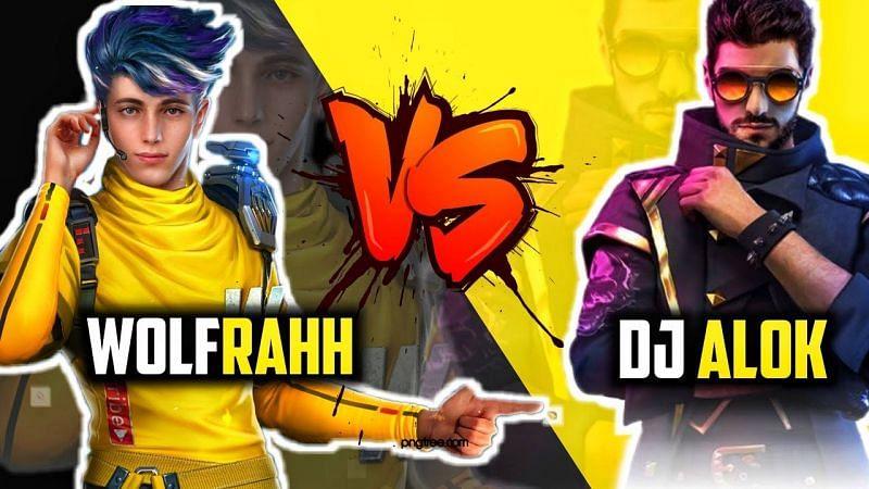 Alok vs Wolfrahh in Free Fire (Image Credits: Dehati Gamerz / YouTube)