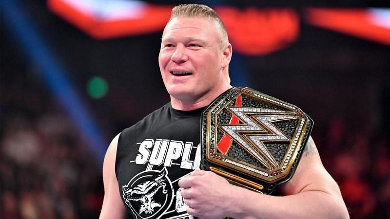 Brock Lesnar is a five-time WWE Champion and three-time Universal Champion