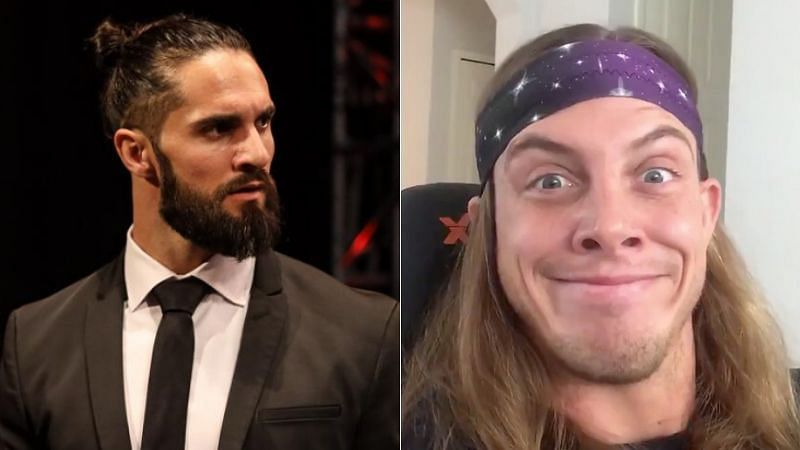 Seth Rollins (left); Matt Riddle (right)