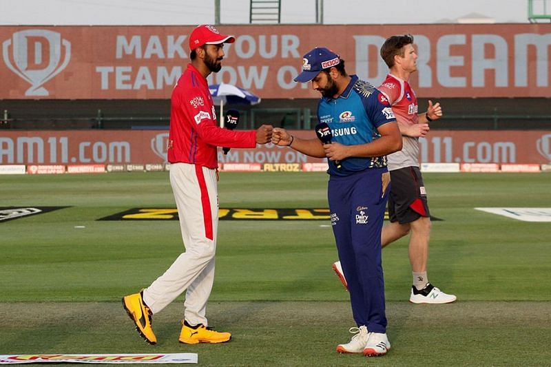 KL Rahul and Rohit Sharma faced off in Match 13 of IPL 2020 [PC: iplt20.com]