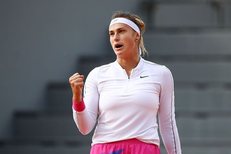 Aryna Sabalenka at the 2020 French Open.