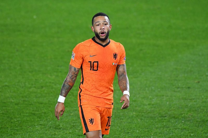 Memphis Depay was heavily linked with a move to Barcelona earlier this year