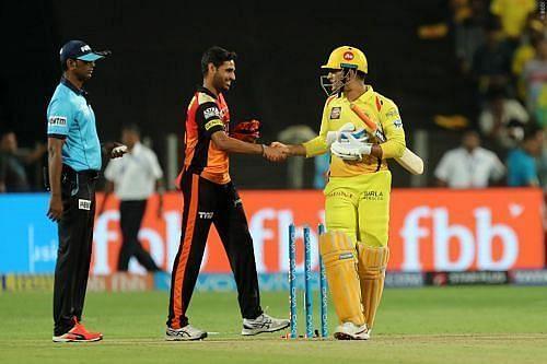 Chennai Super Kings vs Sunrisers Hyderabad. Pics: BCCI/IPLT20.COM