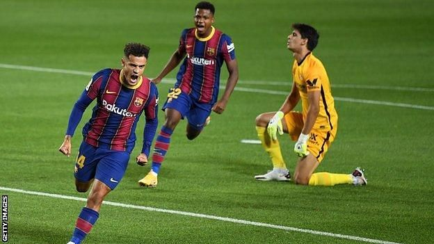 Philippe Coutinho on his way to finding his best form again (Pic courtesy Getty Images).