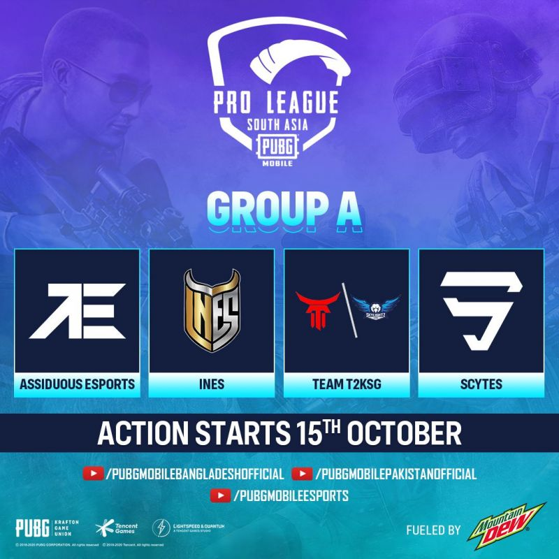 PMPL South Asia Season 2 Group A teams