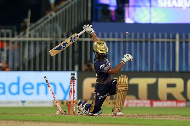 Rahul Tripathi dazzled on debut, but was dismissed in spectacular fashion.
