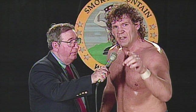 Tracy Smothers cutting a promo in Jim Cornette
