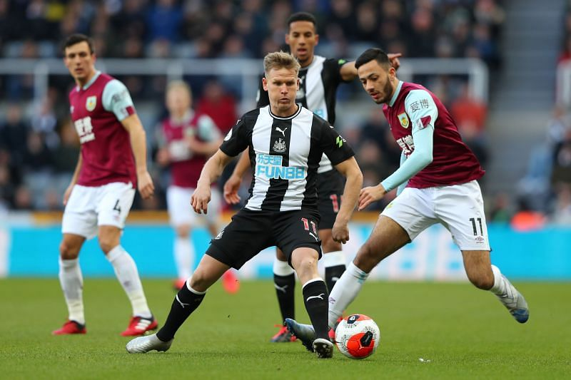 Newcastle United will face Burnley on Sunday