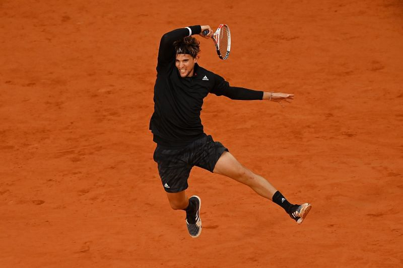 Dominic Thiem unleashes his forehand