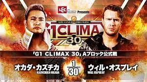 G1 Climax 30 Night 17 featured the A Block Finals with shocking results.