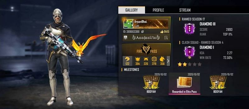Arpan Gaming's Free Fire details