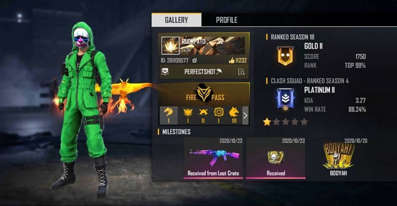 RUOK FF's free fire ID, lifetime stats, and other details - Granthshala News