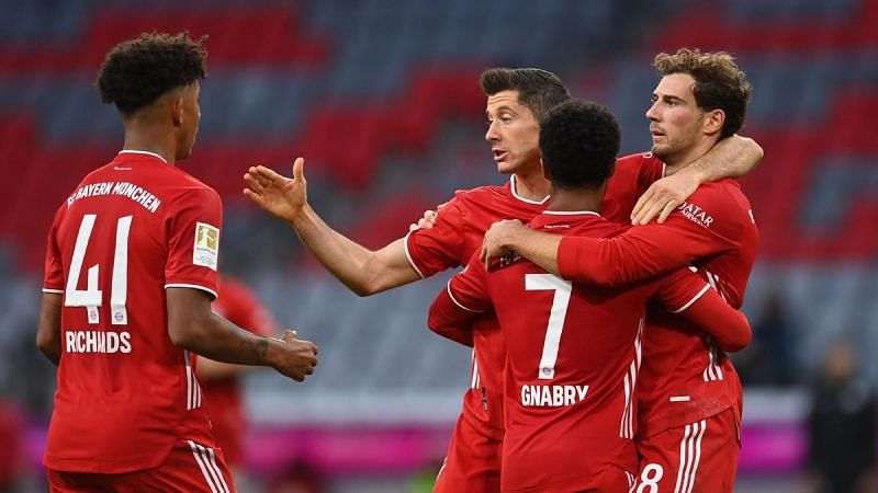 Bayern Munich are back in action against Arminia Bielefeld in the Bundesliga on Saturday