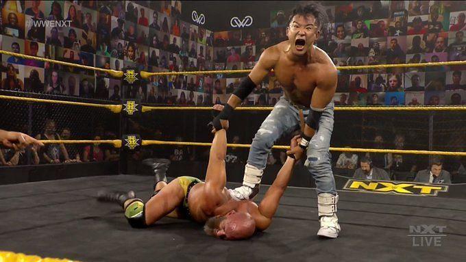 Kushida had the Psycho Killer of NXT on the ropes
