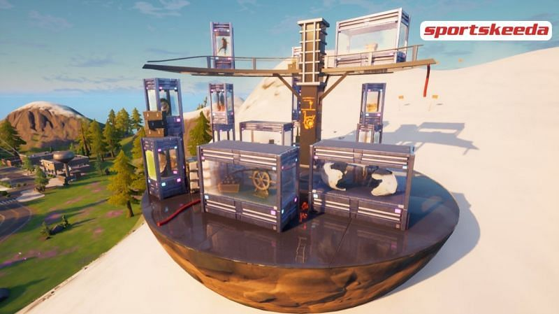The Collection is one of the newest added Marvel POI in Fortnite (Image credit: Sportskeeda)