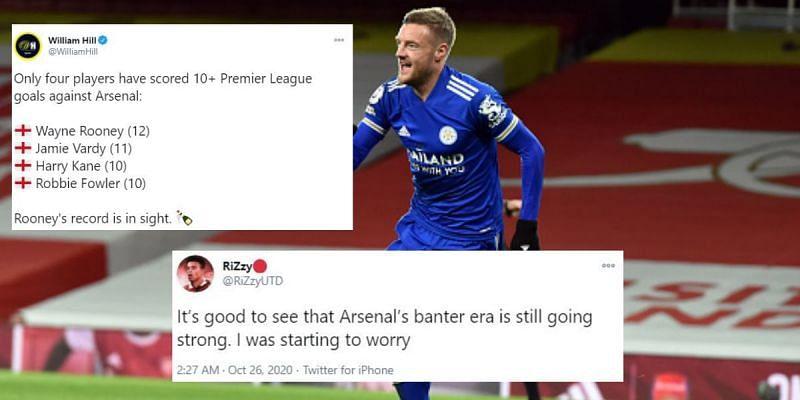 Jamie Vardy scored an important goal against Arsenal yet again