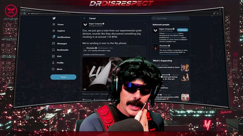 (Image Credit: Dr Disrespect/YouTube)
