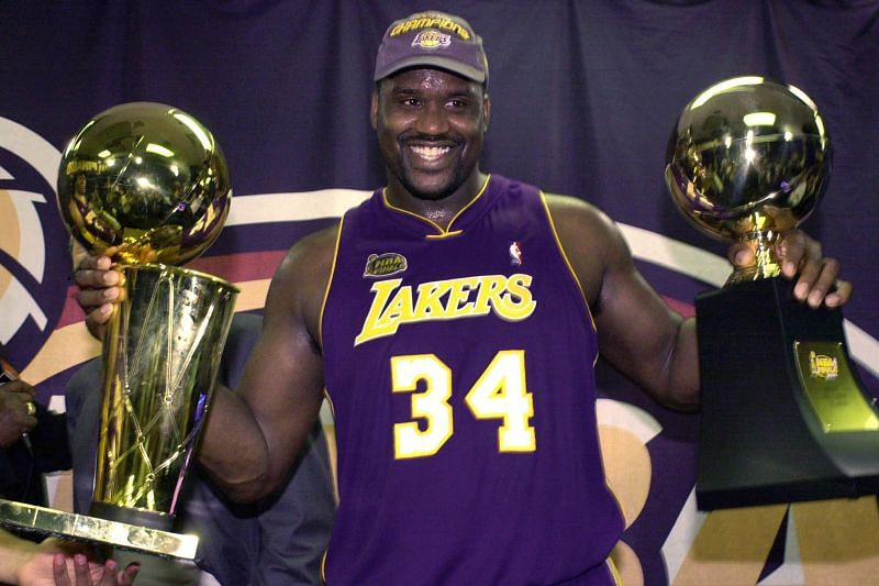Shaq was probably the most physically imposing player ever.
