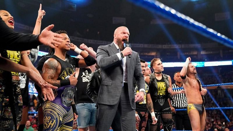 Triple H with the NXT roster last year