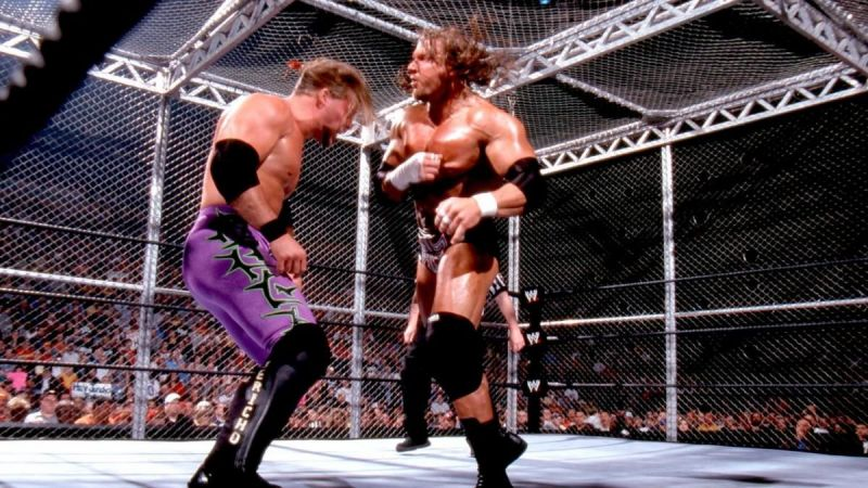 Jericho and Triple H went at it at Judgement Day 2002