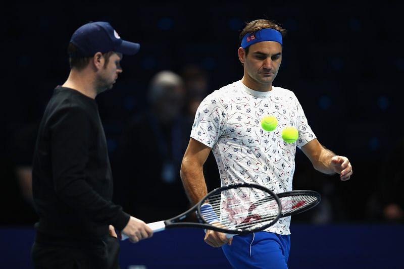Severin Luthi and Roger Federer