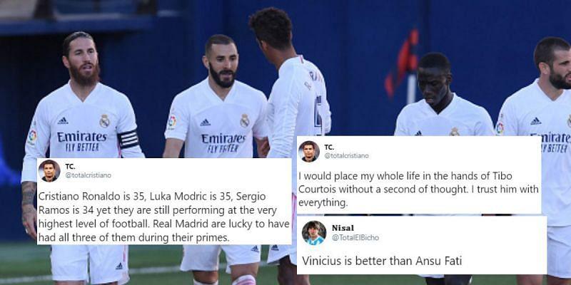 Real Madrid recorded their third victory of the La Liga season