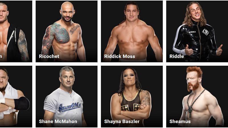 Riddle (fka Matt Riddle) is next to Riddick Moss on WWE