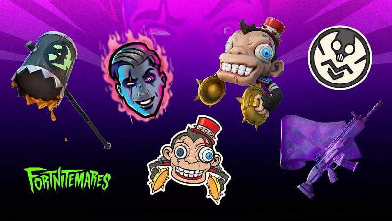 Rewards to be handed out during the Fortnitemares 2020 event (Image Credits: FireMonkey / Epic Games)