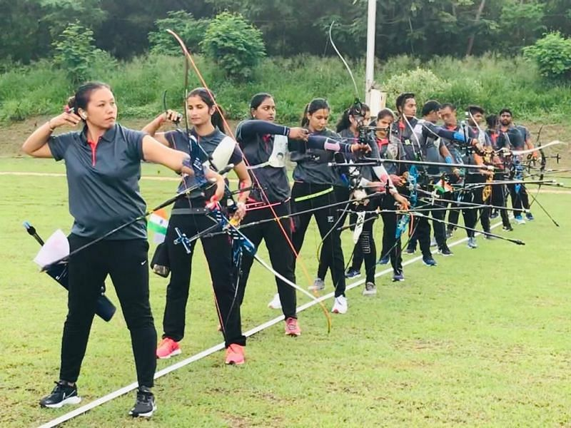 Indian Archers are training at the Army Sports Institute in Pune, Maharashtra