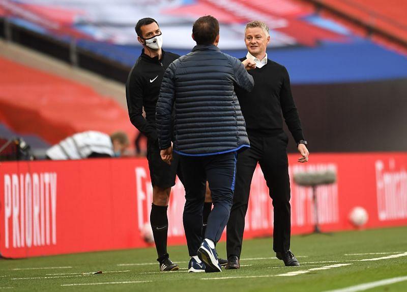Manchester Frank Lampard and Ole Gunnar Solskjaer