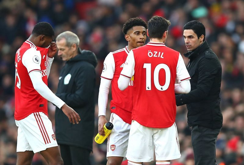 Mikel Arteta has omitted Mesut Ozil from Arsenal