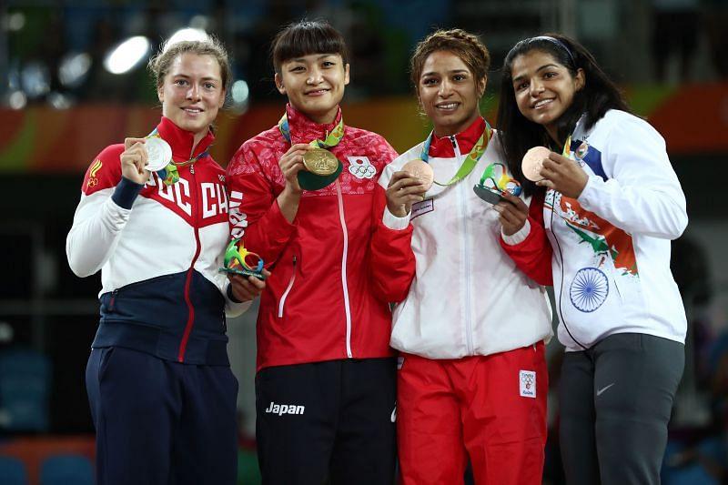 Sakshi Malik won a bronze medal at the Rio Olympics in 2016