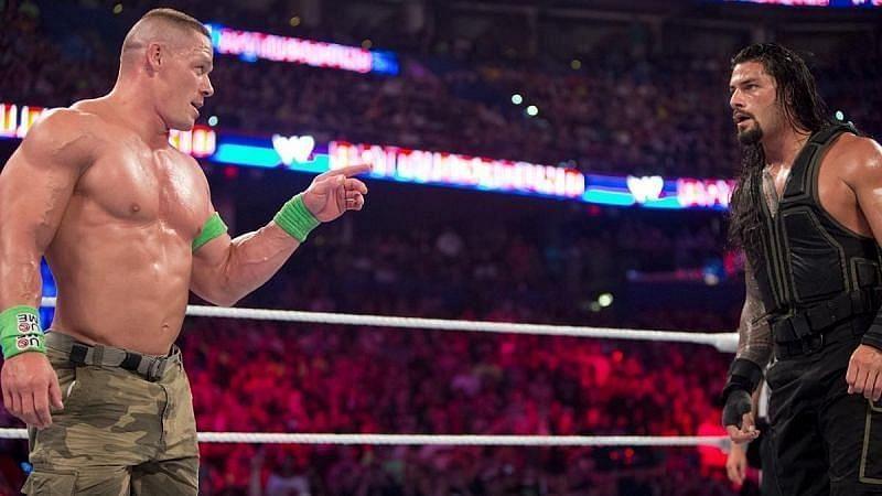 WWE सुपरस्टार रोमन रेंस और जॉन सीना