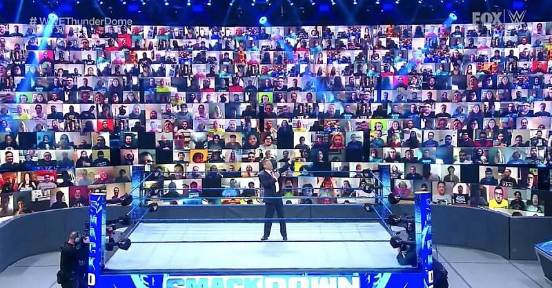 Vince McMahon introducing WWE ThunderDome on Smackdown 8-21-20