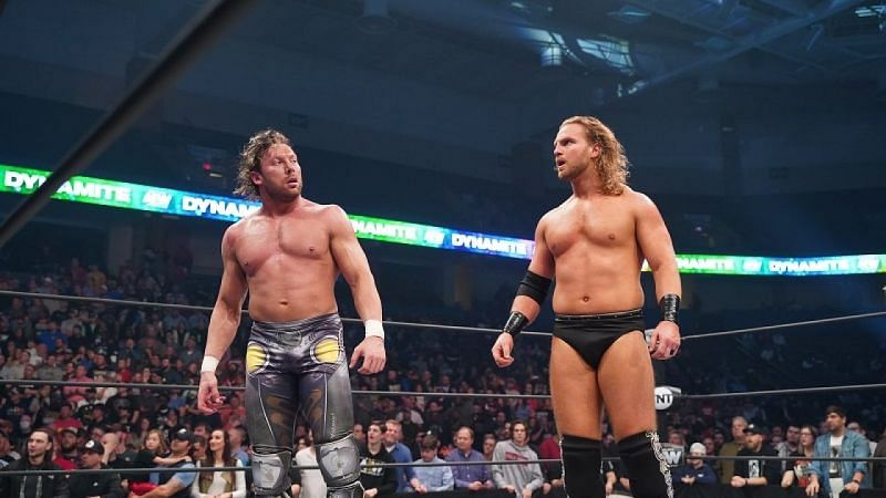 Kenny Omega (L) and Hangman Page (R)