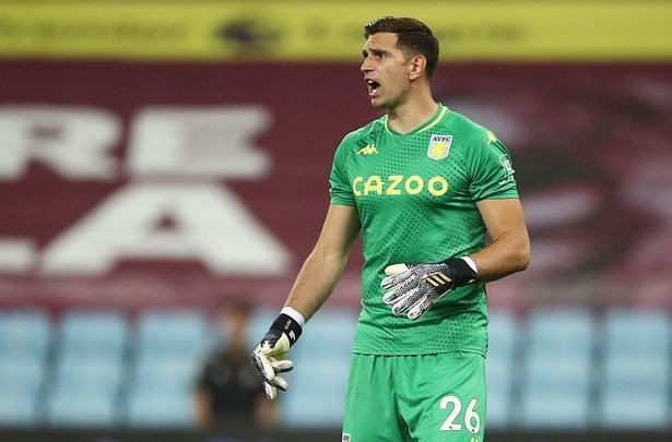 Martinez saved a penalty on his PL debut for Villa.