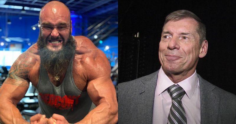 Braun Strowman and Vince McMahon.