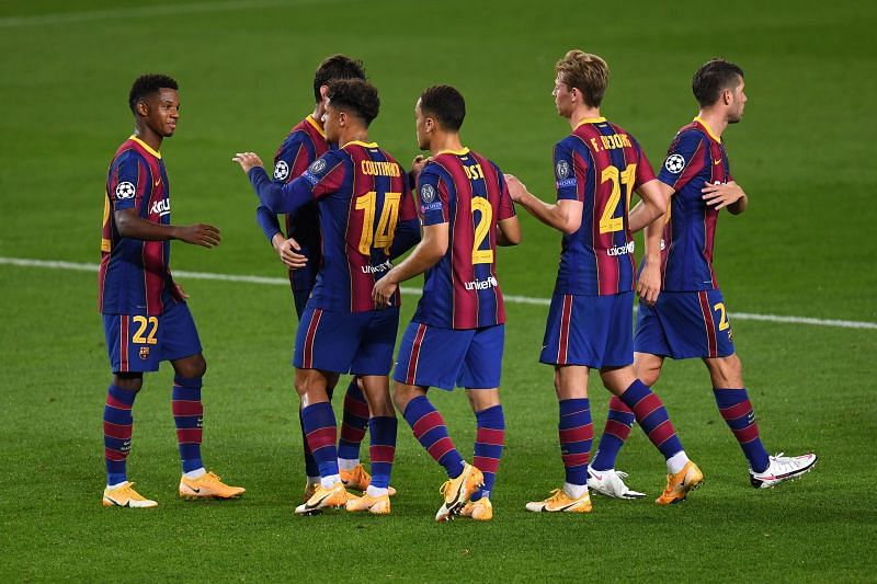 Barcelona 5-1 Ferencvaros: Player Ratings as Gerard Pique red card sours stunning Catalan victory | UEFA Champions League 2020-21