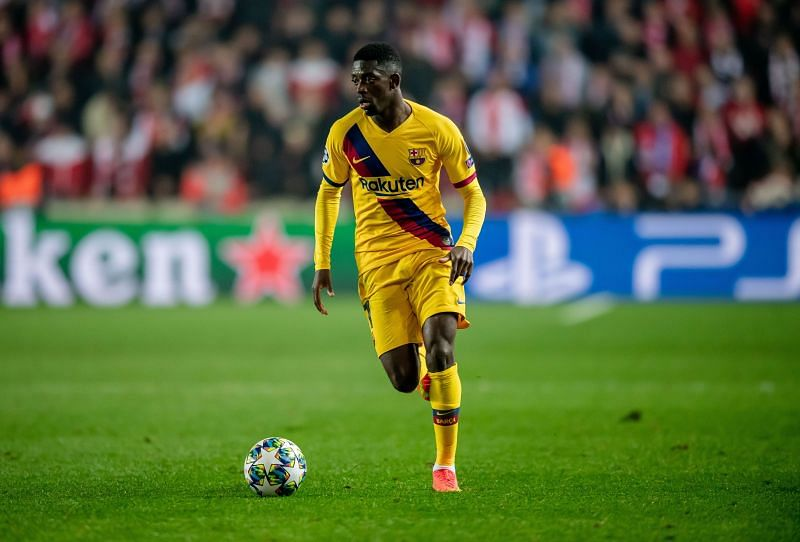 Ousmane Dembele of Barcelona is a loan target for Manchester United
